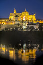 Guadalquivir river in cordoba andalusia spain as it passes through the city of the province of Stock Photos