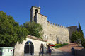 Guaita castle in san marino italy october on october republic tourists visiting sunny autumn day Stock Images