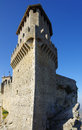 Guaita castle in san marino tower of republic Royalty Free Stock Photo