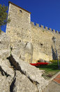 Guaita castle in san marino tower of republic Royalty Free Stock Photos