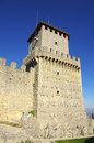 Guaita castle in san marino tower of republic Royalty Free Stock Images