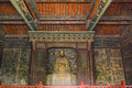 Guan gong temple the indoor scene of in jinci museum in taiyuan shanxi china Stock Photos