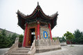 Guangren temple xian china the only one lama in xi an was built in a d the qing dynasty Royalty Free Stock Photos