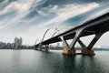 Modern arch bridge in south China Royalty Free Stock Photo