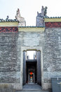 Guangzhou, China`s famous tourist attractions, Chen ancestral hall, which is one of the building group, the back door Royalty Free Stock Photo