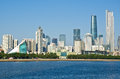 Guangzhou skyline in daytime and pearl river Stock Photo