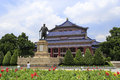 Guangzhou sun yat sen zhongshan memorial hall is a magnificent magnificent octagonal palace architecture the building area is Royalty Free Stock Photo
