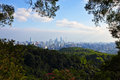 Guangzhou view from the baiyun mountain at daytime guangdong of china Royalty Free Stock Image