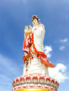 Guanyin biggest statue chachoengsao in thailand a Stock Photos