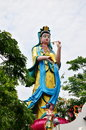 Guanyin bodhisattva is the associated with compassion as venerated by east asian buddhists usually as a female the name is Stock Photos