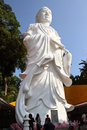 Guanyin goddess statue of or in indonesian called kwan im standing at ktm resort in batam indonesia is the Royalty Free Stock Images