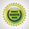 Guarantee badge label - Money Back Guarantee Royalty Free Stock Photography