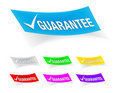 Guarantee check mark,stickers Royalty Free Stock Photos