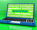 Guarantee laptop means secure guaranteed or assured meaning Stock Photography