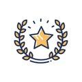 Guarantee - modern single vector line design icon. Royalty Free Stock Photo