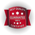 Guarantee red stamps Stock Photos