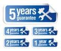 Guarantee stickers set Royalty Free Stock Photo