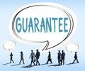 Guarantee warranty satisfaction benefits customer concept Royalty Free Stock Images