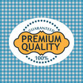 Guaranteed label commercial warranty on a white background Royalty Free Stock Photography