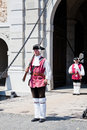 The guard change at Alba Iulia Fortress Royalty Free Stock Photography