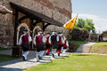 The guard change at Alba Iulia Fortress Royalty Free Stock Photo