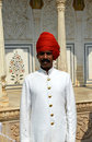 Guard in City Palace, Jaipur Royalty Free Stock Photography