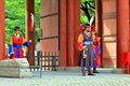 Guard of the deoksugung palace korea traditional in Stock Image