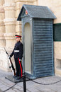 Guard in front of Grand Masters Palace Stock Photos