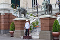 Guard in The Grand Palace. Bangkok. Thailand. Stock Image