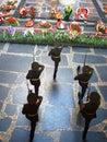 Guard of honor in the hall glory a memorial mamayev kurgan in volgograd Royalty Free Stock Photo