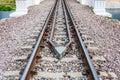 Guard Rail of Railway Track on Concrete Bridge Royalty Free Stock Photo