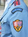 Guard , Soldier At Prague Castle In Uniform With Symbols.