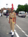 Guard soldier in Wagah Royalty Free Stock Photos