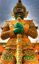 Guard statue in bangkok grand palace an enormous of a at the entrance of the thailand Royalty Free Stock Photos
