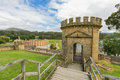 The guard tower in port arthur tasmania historic site unesco heritage is most significant historical site and most visited Stock Image