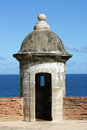 Guard turret a in the castillo de san juan in san juan puerto rico Royalty Free Stock Photography