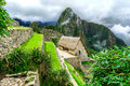 Guardhouses in Machu Picchu, Sacred Valley, Peru Royalty Free Stock Photo