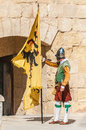 In guardia parade at st jonh s cavalier in birgu malta nov re enactment portraying the inspection of the fort and its garrison by Royalty Free Stock Photo