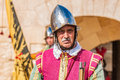 In guardia parade at st jonh s cavalier in birgu malta nov re enactment portraying the inspection of the fort and its garrison by Royalty Free Stock Image