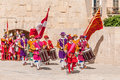 In guardia parade at st jonh s cavalier in birgu malta nov re enactment portraying the inspection of the fort and its garrison by Stock Photography