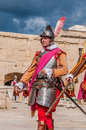 In guardia parade at st jonh s cavalier in birgu malta nov re enactment portraying the inspection of the fort and its garrison by Stock Images
