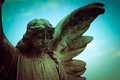 Guardian angel over sky background Royalty Free Stock Images