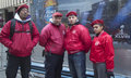 The Guardian Angels Patrol on Broadway Stock Images