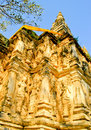 The guardian deity or angel stucco on pagoda. Royalty Free Stock Photos