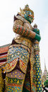 The guardian giant in royal temple call wat phar keaw Royalty Free Stock Photos