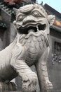 Guardian lion of the chen clan ancestral hall chinese guangzhou landmark architecture in china Royalty Free Stock Images