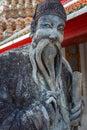 Guardian Statues at Wat Pho (Pho Temple) in Bangkok Royalty Free Stock Photo