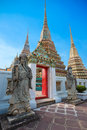 Guardian Statues at Wat Pho (Pho Temple) in Bangkok Royalty Free Stock Photo