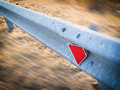 Guardrail in the country Royalty Free Stock Photo