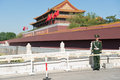 The guards Beijing tiananmen gate soldiers Royalty Free Stock Photo